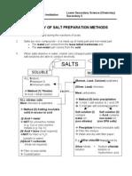 Summary of Salt Preparation