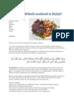 Seafood Hallal