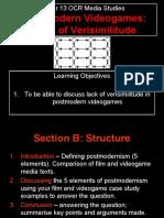 Lesson 2 - PoMo Videogame LoV