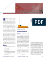 Calculando o coeficiente de atrito entre superfícies com material alternativo