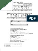 Easter 5A Psalm Taize refrain arrangement