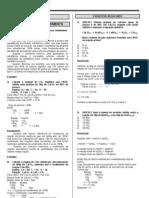 Lista de exercícios de Estequiometria