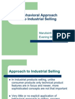 Behavioural Approach to Industrial Selling