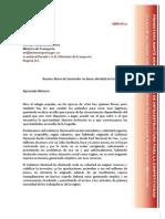 Carta de Pronorco a Mintransporte