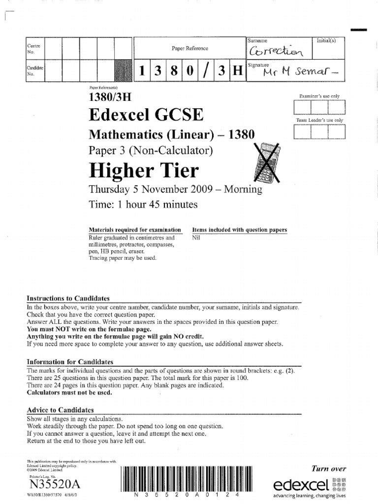 Edexcel gcse mathematics linear 1ma0 probability and tree diagrams higher paper 3 november 2009 detailed solutions rh scribd com ccuart Image collections