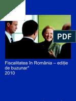 Fiscalitatea în România – ediţie de buzunar 2010