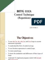 C++ Control Technique Repetition