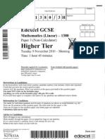 Higher Paper 3 Nov 2010