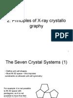 2. Principles of X-Ray Crystallography