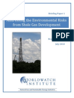 Addressing the Environmental Risks from Shale Gas Development