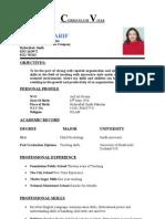 Curriculum Vitae Miss Rukhsana shaikh
