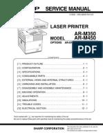 Sharp AR-M350, 450 Service Manual