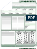 Shadowrun Character Sheet