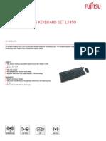 Ds Wireless Keyboard Set Lx450