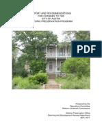 Historic Preservation - Full Report