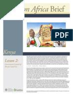 Kenya Lesson 2 Brief