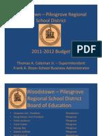 BUDGET 2011-2012 Power Point Presentation