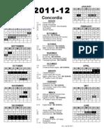School Calendar 2011-12