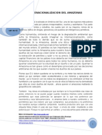 Internacionalizacion de La Amazonia