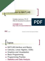 Intro Matlab Statistics