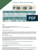 Lab Oratorio de Configuraci%F3n y Verificaci%F3n Del Protocolo EIGRP