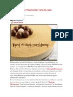 Receta Postres Thermomix Tarta de Nata Portuguesa