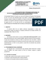 Edital Pibic 2011_2012
