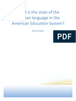What is the state of the German language in the American Education System?