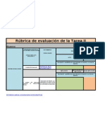 rúbrica de evaluación de la tarea II