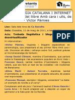 Cartell Presentació Amb cara i ulls a Ca Revolta (València)