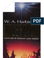 harbinson - projekt saucer book 1 - inception (sf novel about american-nazi flying saucer project) (1994)