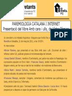 Targetó d'invitació presentació Amb cara i ulls a Ca Revolta (València)