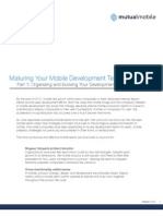 Maturing Your Mobile Development Team