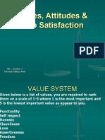 OB Values Attitudes Job Satisfaction