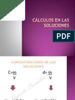 3. Cálculos En LAS SOLUCIONES