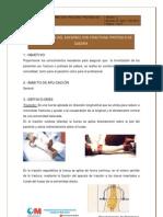 Movilizaciýn del enfermo con fractura prýtesis de cadera