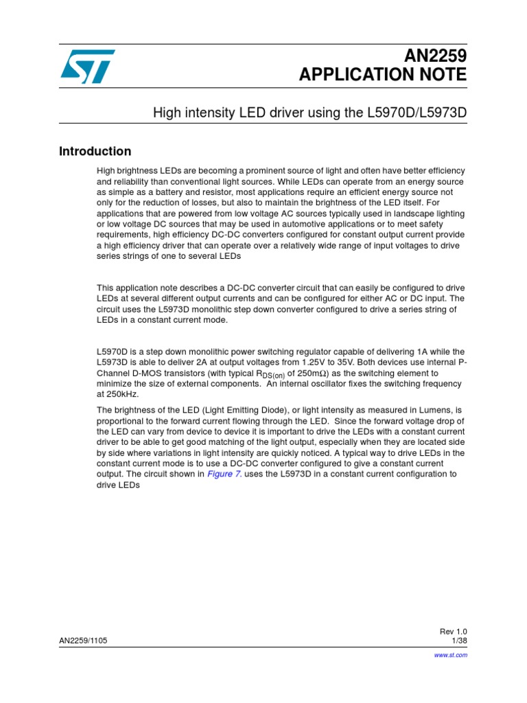 An Led Driver Electronic Engineering Electrical Components Dc To Step Down Converter Circuit