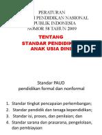 PERMEN 58-2009 STANDAR PAUD