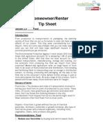 Compilation of Restricted Eugene Home Owner Tip Sheets