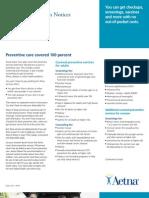 Preventive Care Coverage - ASH