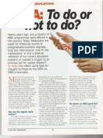 MBA - To Do or Not to Do - Management Jan - Mar 2006