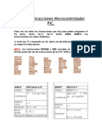 Set de Instrucciones Micro Control Ad Or PIC