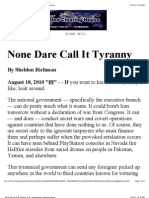 None Dare Call It Tyranny_ ICH - Information Clearing House