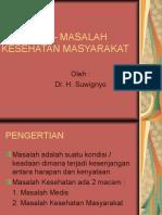 MASALAH – MASALAH KESEHATAN MASYARAKAT