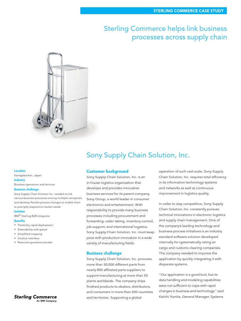 sony electronics supply chain