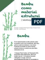 Slides - Consstruções de Bambu subistituindo o aço