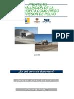 Proyecto Evaluacion de La Bischofita Como Riego Supresor de Polvo
