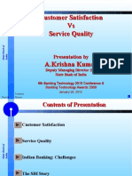 SBI- Mr Krishna Kumar- Customer Sat vs Serv Qty