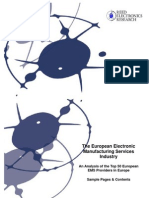 The European EMS Industry - An Analysis of the Top 50 European EMS Providers - EEMF Contents & Sample Pages