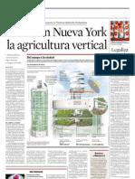 Crean en Nueva York La Agricultura Vertical